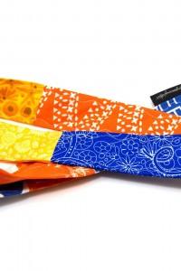Lanyard Schlüsselband blau gelb orange