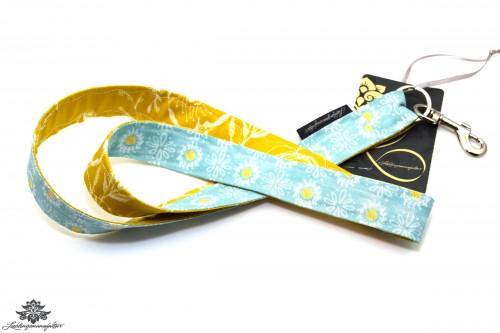 Lanyard Schlüsselband blau gelb
