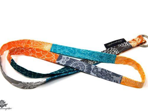 Lanyard Schlüsselband blau orange