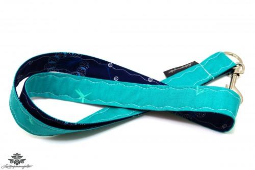 Lanyard Schlüsselband dunkelblau türkis