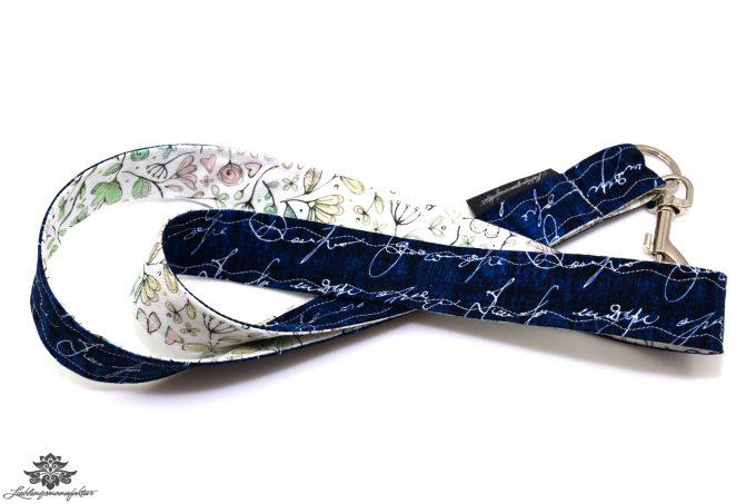 Lanyard Schlüsselband dunkelblau weiss