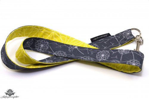 Lanyard Schlüsselband grau gelb