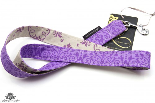 Lanyard Schlüsselband lila grau