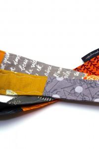 Lanyard Schlüsselband orange grau