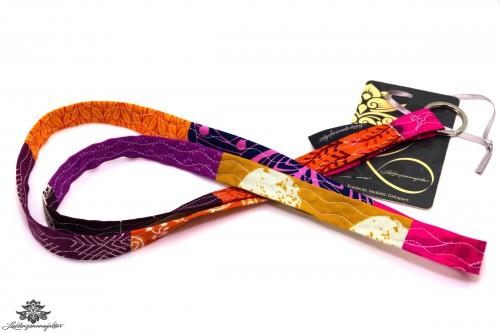 Schlüsselband Stoff lila