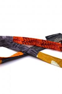 Lanyard Schlüsselband orange grau beige