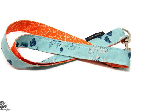 Lanyard Schlüsselband orange hellblau