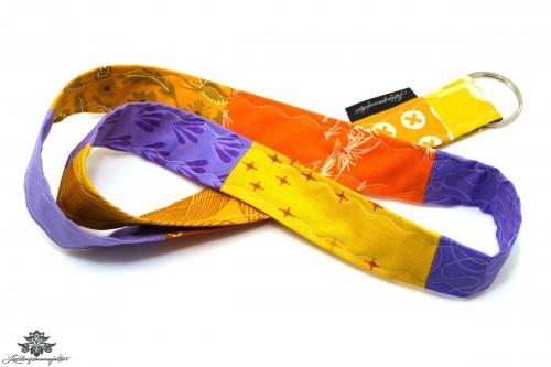 Lanyard Schlüsselband orange lila