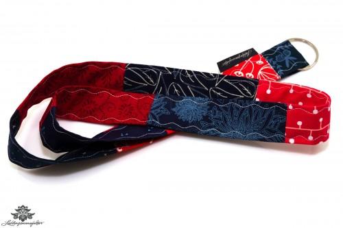 Lanyard Schlüsselband rot blau