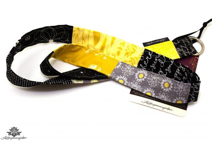 Lanyard Schlüsselband schwarz gelb