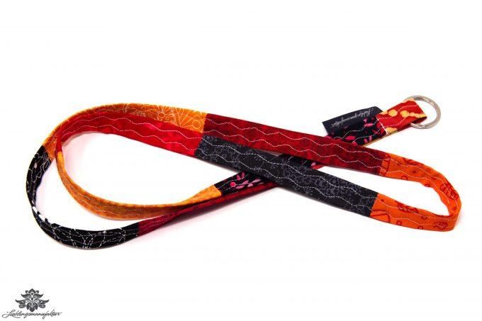 Lanyard Schlüsselband schwarz orange