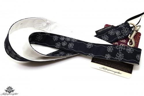 Lanyard Schlüsselband schwarz weiss