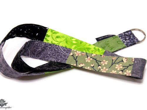 Lanyard Schlüsselband grün grau