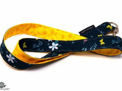 Lanyard dunkelblau gelb