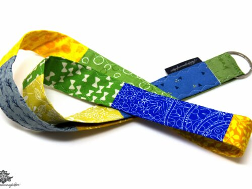 Lanyard gelb blau Schlüsselband