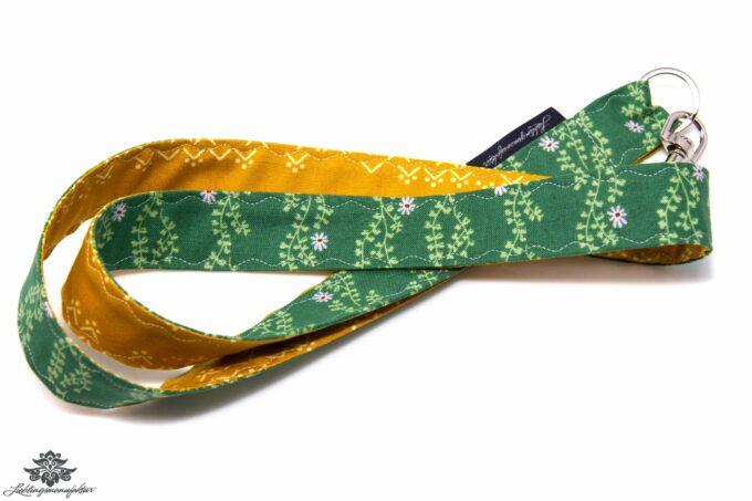 Lanyard gelb grün Blättermuster