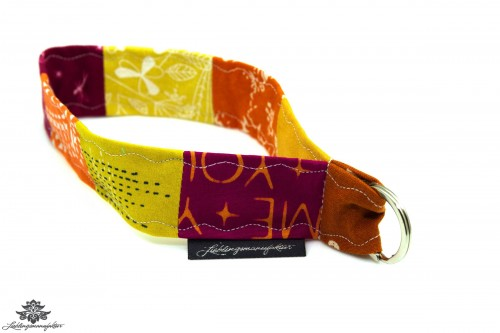 Lanyard gelb orange kurz