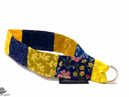 Lanyard kurz blau gelb