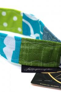 Lanyard kurz grün blau