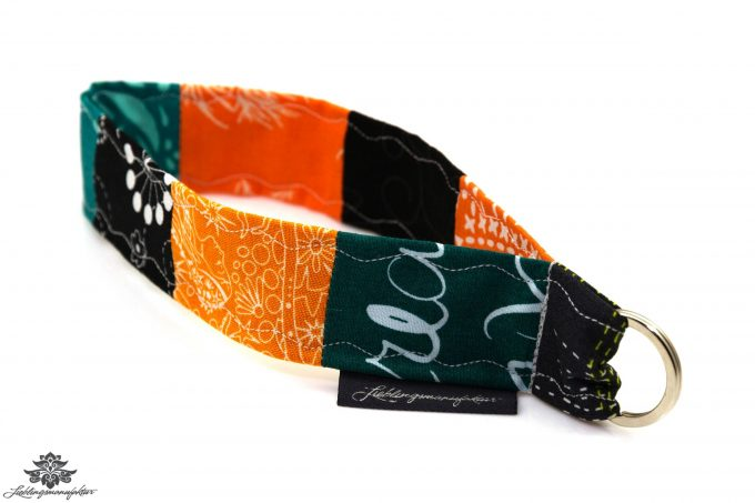 Lanyard kurz grün orange