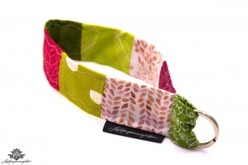 Lanyard kurz grün pink