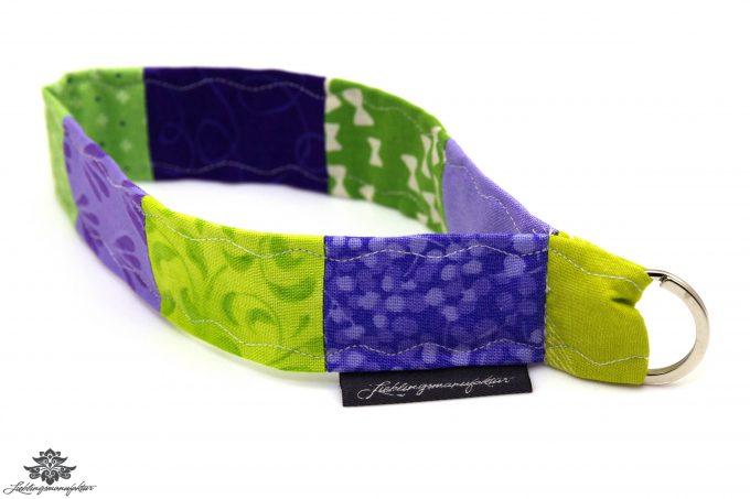 Lanyard kurz lila grün