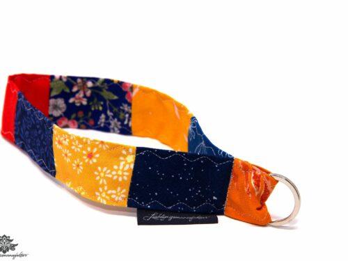 Lanyard kurz orange blau