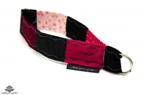 Lanyard kurz rosa schwarz