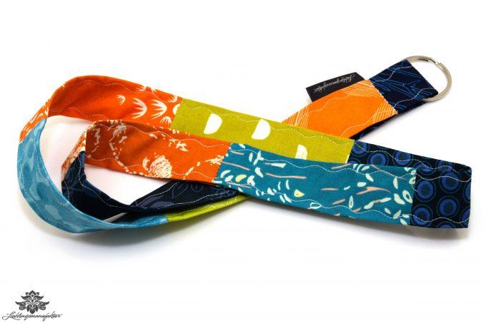 Lanyard orange blau