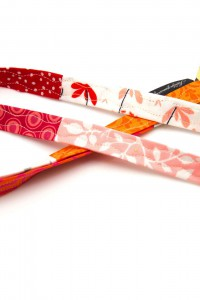 Lanyard rosa rot orange schmal