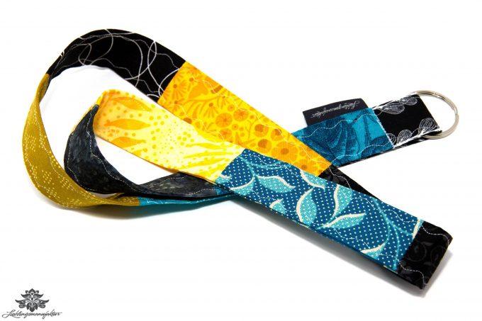 Lanyards bunt blau gelb türkis