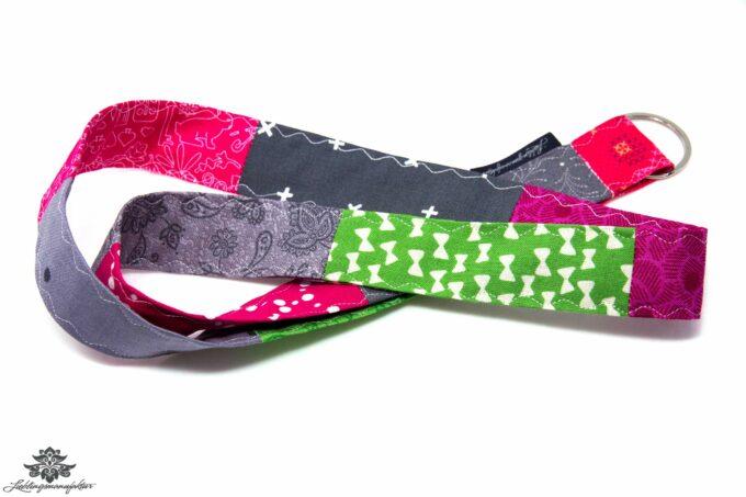 Lanyards bunt pink grün grau