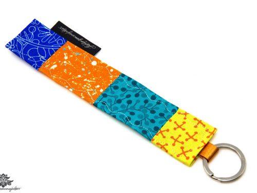 Schlüsselanhänger blau gelb