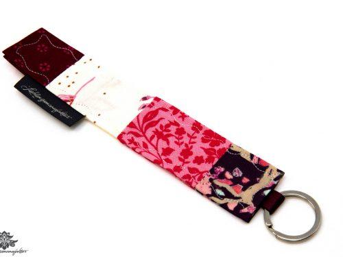 Schlüsselanhänger pink weiß