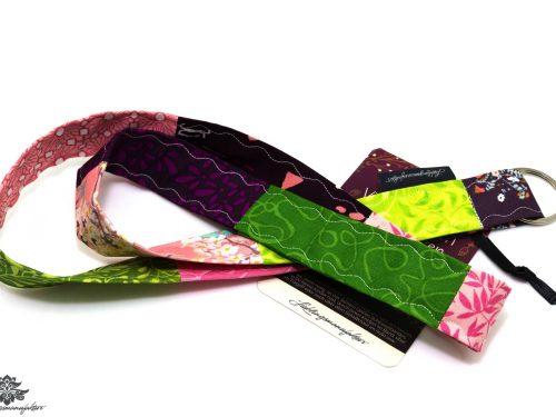 Schlüsselbänder grün pink