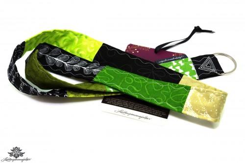 Schlüsselband Lanyard grün schwarz