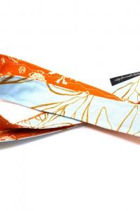 Schlüsselband Lanyard hellblau orange