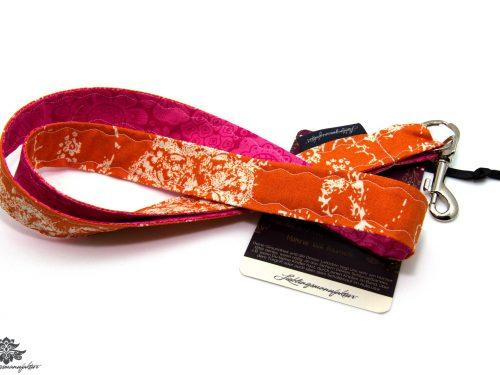 Schlüsselband Lanyard pink orange