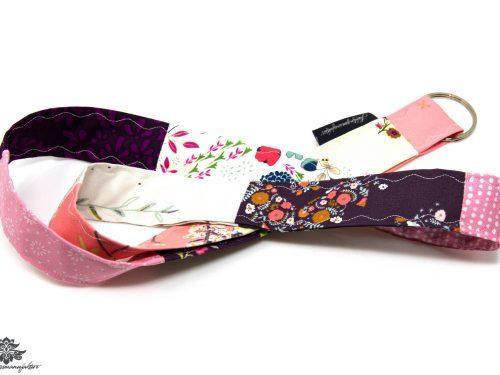 Schlüsselband Lanyard rosa lila