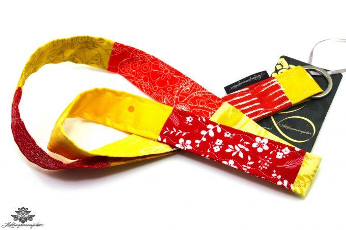 Schlüsselband Lanyard rot gelb