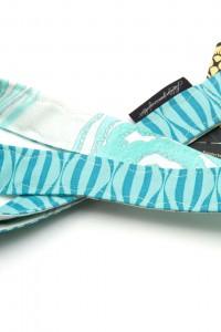 Schlüsselband Streifen blau