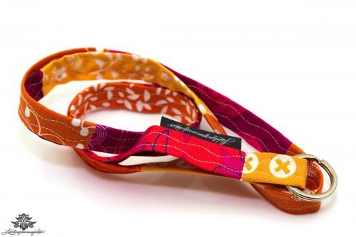Schlüsselband dünn orange rot