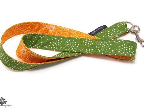 Schlüsselband grün orange