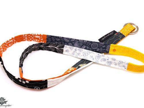 Schlüsselband orange schwarz