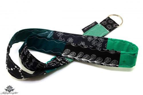 Schlüsselband schwarz grün Lanyard