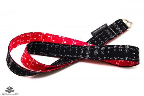 Schlüsselband schwarz rot