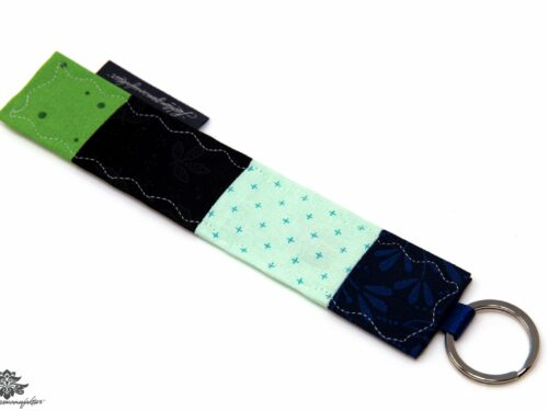 Schlüsselanhänger blau schwarz