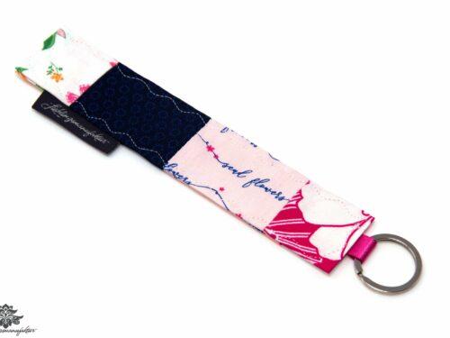 Schlüsselanhänger pink weiss