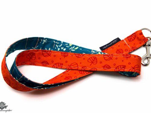 Schlüsselband Lanyard türkis orange
