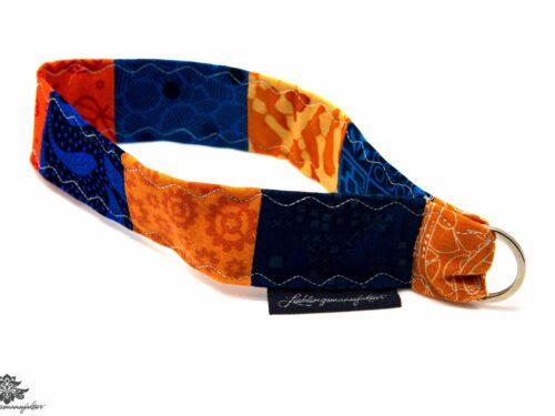 Schlüsselband blau orange Handgelenk